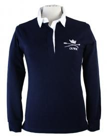 OUWBC Women's Rugby Shirt Featuring the OUWBC (Oxford University Women's Boat Club) logo on the front our slim fit navy rugby shirt is an essential item for any team supporter.
