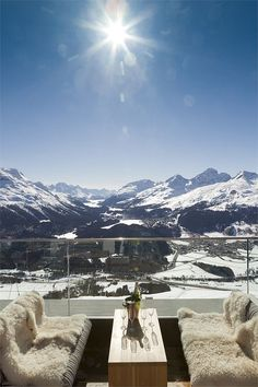 Switzerland one day.. Romantik Hotel Muottas Muragl in the Swiss Alps