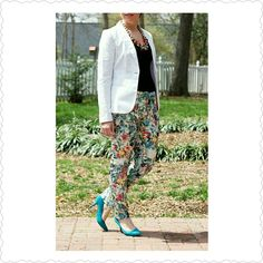 H&M floral pants H & M floral pants, soft stretchy, long lounge pants H&M Pants