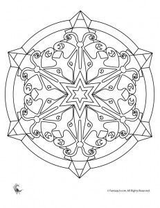snowflake mandala coloring pages - Google Search | Stitched ...