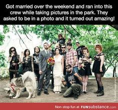 Punk's not dead, it's just posing for wedding pictures in the park