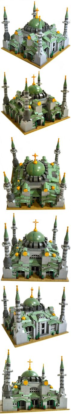 Lego Church of the Beatitudes, in Galilee Legos, Lego Lego, Jabba's Palace, Best Lego Sets, Micro Lego, Amazing Lego Creations, Lego Boards, Beatitudes, Lego Castle