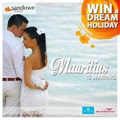 Win a trip to Mauritius to the value of R90 000.00! Make your dream honeymoon a reality! #SandownDreamHoliday Enter here http://sandowntravel.co.za/win-a-dream-holiday/#utm_sguid=167968,a73489e4-45f9-9d60-228f-daf999977e00
