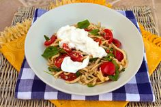 Italian Food Forever » Pasta With Cherry Tomatoes & Burrata Cheese