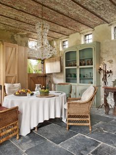 Charming rustic dining room