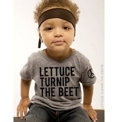 lettuce turnip the beet  ecoheather grey track shirt  baby door coup, $24,00