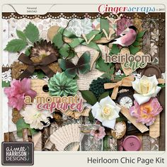 Heirloom Chic Page Kit by Aimee Harrison