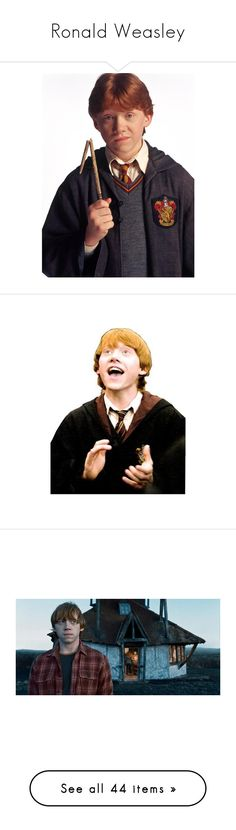 """""""Ronald Weasley"""" by anjinha1267 on Polyvore featuring harry potter, people, rupert grint, ron weasley, hp, ron, pictures, hogwarts, backgrounds e emma watson"""