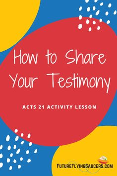 What is a testimony? How do you get one? What should you do with it? Discuss these questions and more with this Acts 21 Bible Activity lesson about Paul in Jerusalem. #BibleLessonForKids #SundaySchool #KidsMinistry #Homeschool Sunday School Curriculum, Sunday School Activities, Bible Activities, Bible Object Lessons, Bible Lessons For Kids, Acts Bible, Bible Plan, Bible Crafts For Kids, Bible Teachings