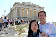 4Life's Platinum International Diamonds Jeff & Michelle Altgilbers at the Parthenon in Athens.