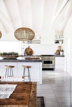 Home inspiration: Hamptons-style holiday haven - Homes, Bathroom, Kitchen & Outdoor | Home Beautiful Magazine Australia https://www.ukappliancesdirect.com/product/igenix-ig347ff-under-counter-fridge-freezer-47-cm/ #HomeAppliancesFreezers #HomeAppliancesCustomCabinets