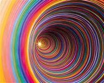 construction paper art work by jen stark Jen Stark, Love Rainbow, Taste The Rainbow, Over The Rainbow, Rainbow Colors, Rainbow Art, Rainbow Paper, Rainbow Swirl, Circle Rainbow