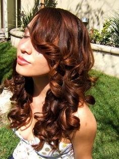 brunette with red, a little more subtle