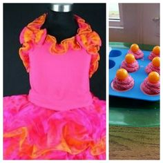 Little  girl party dress inspired my color choices for these mini soaps