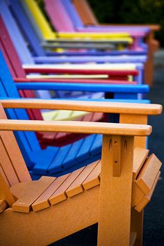 colorful chairs