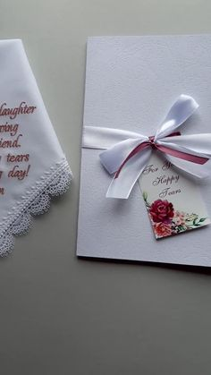 Your Happy Tears handkerchief Sentimental wedding gift on your wedding day Mom hankerchief for wedding Personalized embroidered Parents giftPersonalize with any text (UP TO 30 WORDS for the saying. Sentimental Wedding Gifts, Wedding Gifts For Parents, Wedding Gifts For Bridesmaids, Best Wedding Gifts, Wedding Keepsakes, Personalized Wedding Gifts, On Your Wedding Day, Wedding Handkerchief, Happy Tears