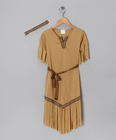 Take a look at this Tan Native American Beauty Dress-Up Outfit - Kids by Paper Magic on #zulily today!