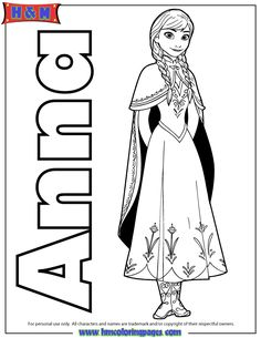 Anna Frozen Coloring Pages Hd Princess Of Arendelle Page