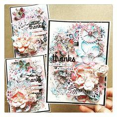 Soft and sweet palette: #Repost @abigaella_ ・・・ #thankyou #cards #primamarketinginc #mixedmediaartist #handmadecards #primamixedmedia#scrapbooking #artmedium