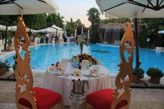 Wedding pool party at Villa Fiorta