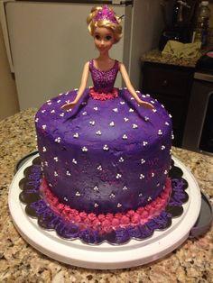 Rapunzel Barbie birthday cake