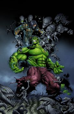 Darkness vs Hulk by Marc Silvestri