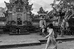 Children at Play in Their Suburban Front Yard Ubud Bali Indonesia March 2014