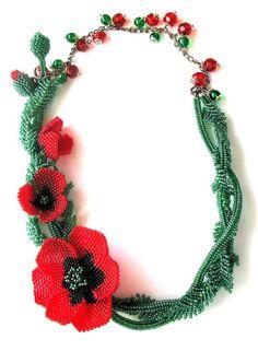 Beaded jewelry by Elina Ivanova Funky Jewelry, Seed Bead Jewelry, Beaded Jewelry, Handmade Jewelry, Beaded Necklace, Gemstone Jewelry, Necklaces, Custom Jewelry Design, Custom Design