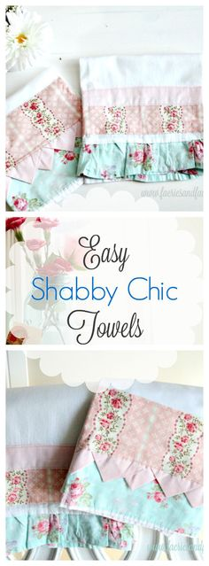 These tea towels are not your everyday pretty tea towel. They are extra large, unqiue and can be sewn to match other decor. Simple to do with full tutorial.