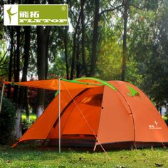 91.96$  Watch now - http://alinpg.worldwells.pw/go.php?t=32613890899 - Outdoor 4 people large Camping Tent Two rooms 4 Season party large tenda shelter awning gazebo tents