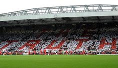 Pics: Tributes paid at Anfield - Liverpool FC hillsborough-tributes-v-mufc Anfield Liverpool, Liverpool Football Club, You'll Never Walk Alone, Walking Alone, Places To Visit, Legends, Fans, Lovers, English