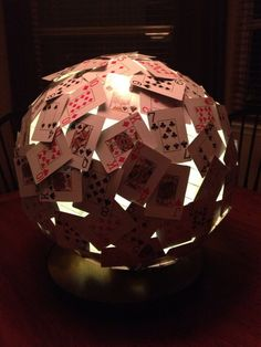 Casino themed lantern with LED battery. by CasinoCrafts on Etsy, $32.00
