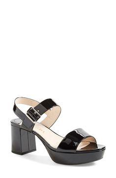 PRADA Block Heel Sandal (Women). #prada #shoes #sandals