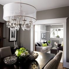Like The Paint Colors ButThis Is What I DONT WANT As Far White Trim Dining Room Benjamin Moore Chelsea Gray Living Kendall