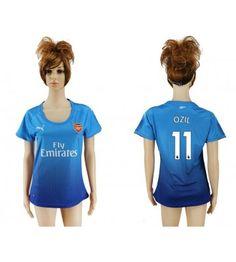 Arsenal Mesut Ozil 11 Bortatröja Dam 17-18 Kortärmad Ozil Mesut, Manchester United, Arsenal, Sports, Tops, Fashion, Velvet, Hs Sports, Moda