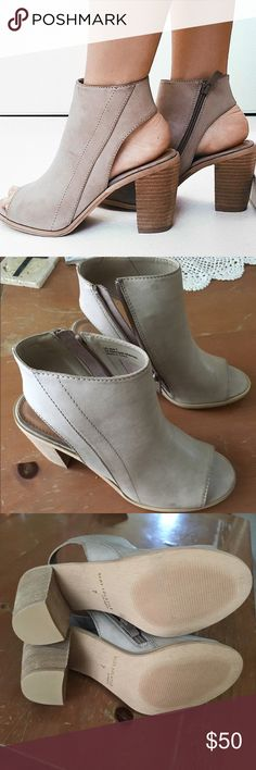 Tan brown nude leather ankle boots booties Perfect condition never worn outside, faux leather but super quality. From ZooShoo dsw Shoes Ankle Boots & Booties