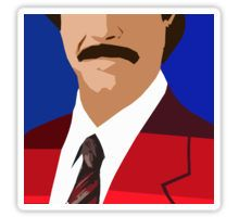 The Anchorman Sticker