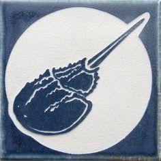 Porcelain horseshoe crab tile