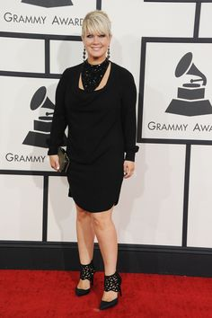 Nominee Natalie Grantarrives at the 56th Annual GRAMMY Awards on Jan. 26 in Los Angeles