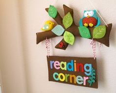 All 3 of mine love to read - even my baby girl so a dedicated reading corner would be good (although we are firm believers that you CAN read anywhere!)  #DKLdreamplayroom reading corner sign