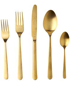 """Nothing says bling like 14-karat-colored flatware."" – @Justina Siedschlag Blakeney  (48 for five-piece set; anthropologie.com)"