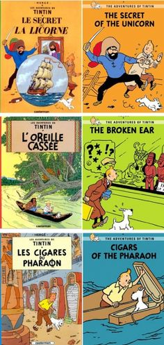 Les Aventures de Tintin. I learned a bit of old school French slang because of these comics.