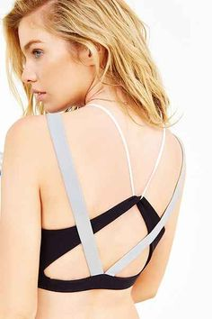 Silence + Noise Colorblock Scoopneck Bra Top - Urban Outfitters