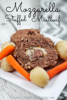 This Mozzarella Stuffed Meatloaf is a simple twist on a traditional meal. Great for picky eaters!