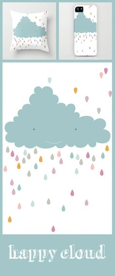 cloud illustration by PinkNounou on Society6