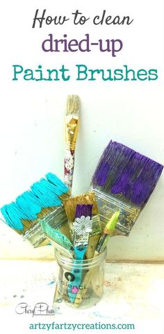 to clean dried up paint brushes Save money on painting supplies! Here's how to clean dried-up paint brushes. Painting Tips galore at Save money on painting supplies! Here's how to clean dried-up paint brushes. Painting Tips galore at Deep Cleaning Tips, House Cleaning Tips, Cleaning Hacks, Cleaning Solutions, All You Need Is, Cleaning Paint Brushes, Gadgets, Cleaning Painted Walls, Clean Freak