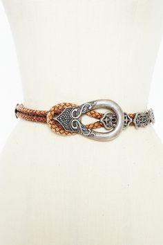 vintage woven belt with medieval inspiration.. love ittttt!!!
