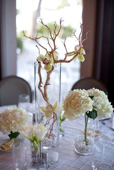 In my book, you can't go wrong with cymbidium orchids on manzanita branches!