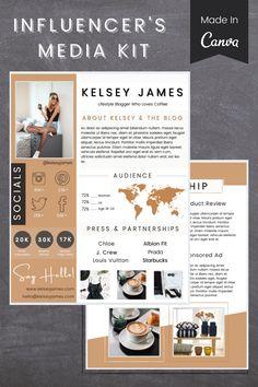 Media Kit Template, Social Media Template, Social Media Branding, Social Media Design, Beauty Flyer Ideas, Branding Kit, Instagram Influencer, Social Media Influencer, Cv Design