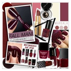 """FALL MANI"" by rinagq ❤ liked on Polyvore featuring beauty, Deborah Lippmann, Givenchy, NARS Cosmetics, Jin Soon, Hourglass Cosmetics, Nails Inc., Butter London, Guerlain and Gucci"